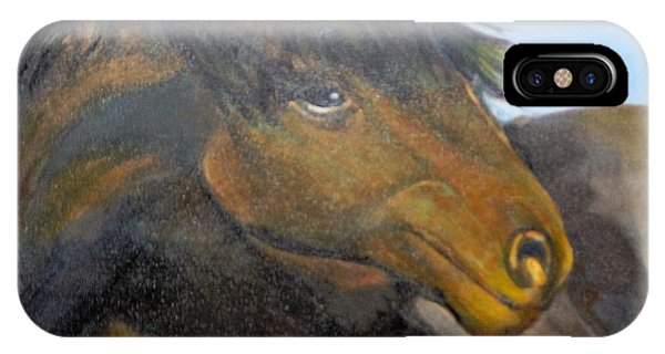 IPhone Case featuring the painting Determination by Saundra Johnson
