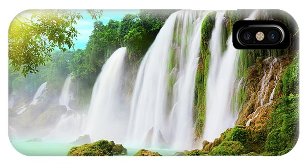 Tropical iPhone Case - Detian Waterfall by MotHaiBaPhoto Prints