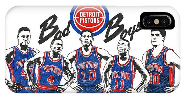 Detroit Bad Boys Pistons IPhone Case