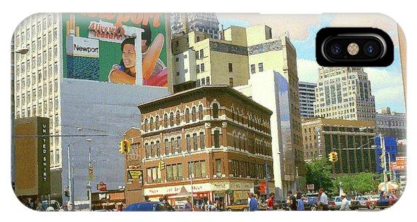 Detroit Michigan 84 - Watercolor IPhone Case