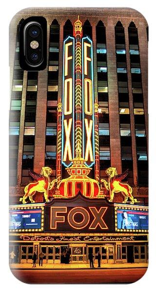 Detroit Fox Theatre Marquee IPhone Case