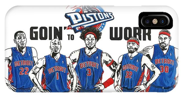 Detroit Goin' To Work Pistons IPhone Case