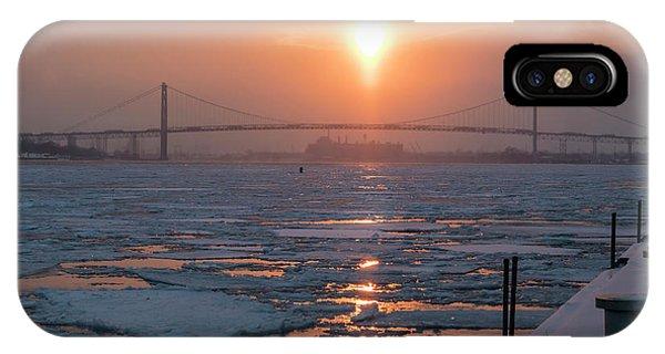 Detroit River Sunset IPhone Case