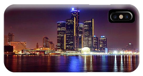Renaissance Center iPhone Case - Detroit Skyline 4 by Gordon Dean II