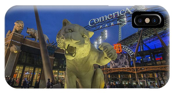 Detroit Tigers Comerica Park Front Gate Tiger IPhone Case