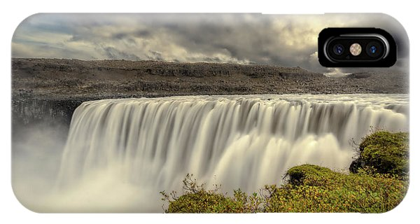IPhone Case featuring the photograph Dettifoss Before The Storm by Rikk Flohr