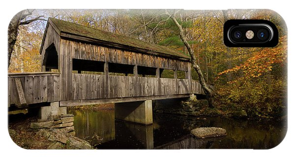 IPhone Case featuring the photograph Devil's Hopyard Covered Bridge by Kirkodd Photography Of New England