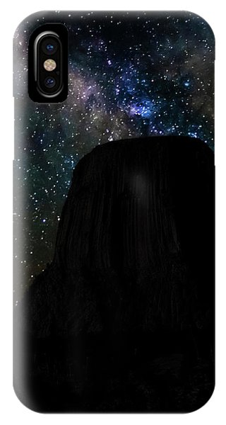 IPhone Case featuring the photograph Devils Tower And Milky Way by Scott Read