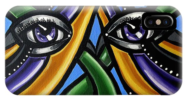 Colorful Eye Art Paintings Abstract Eye Painting Chromatic Artwork IPhone Case