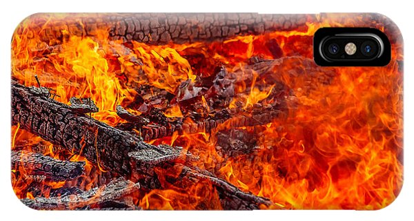 Flammable iPhone Case - Devouring The Remains by Todd Klassy
