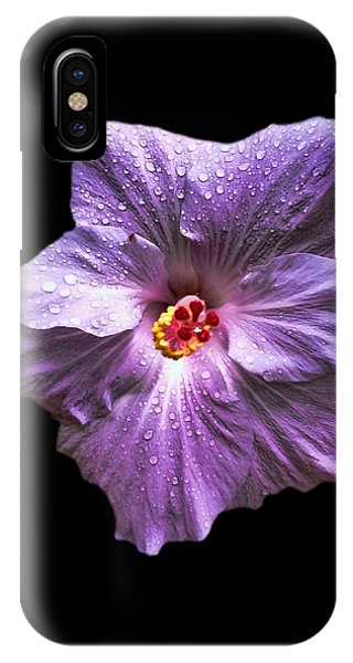 Dew Kissed Hibiscus IPhone Case