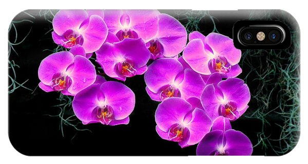 Dew-kissed Orchids IPhone Case