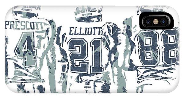 Dez Bryant Ezekiel Elliott Dak Prescott Dallas Cowboys Pixel Art IPhone Case