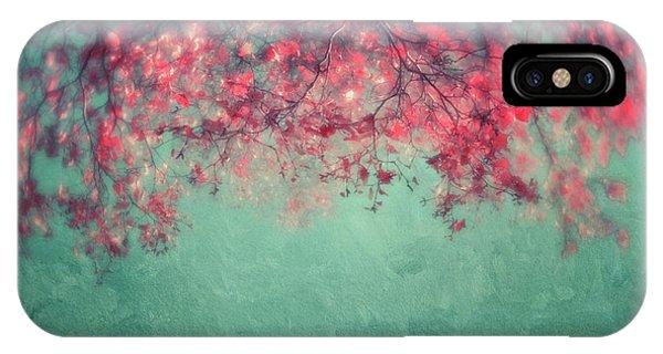 Teal iPhone Case - Leaves by Priska Wettstein