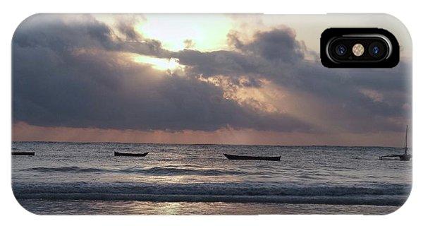 Exploramum iPhone Case - Dhow Wooden Boats At Sunrise 1 by Exploramum Exploramum