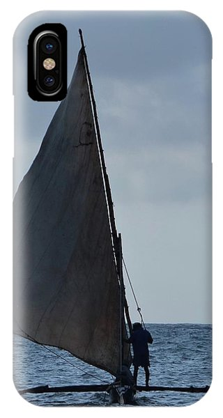 Dhow Wooden Boats In Sail IPhone Case