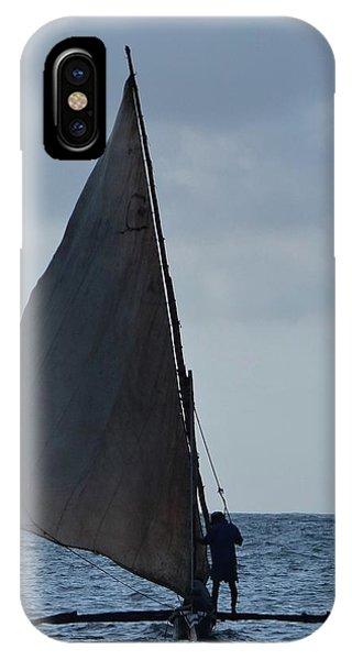 Exploramum iPhone Case - Dhow Wooden Boats In Sail by Exploramum Exploramum