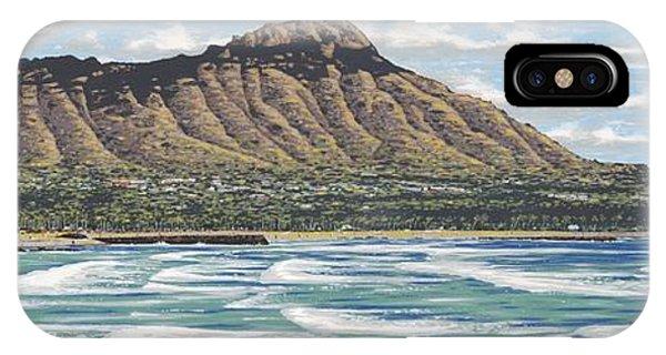 Oahu Hawaii iPhone Case - Diamond Head by Andrew Palmer