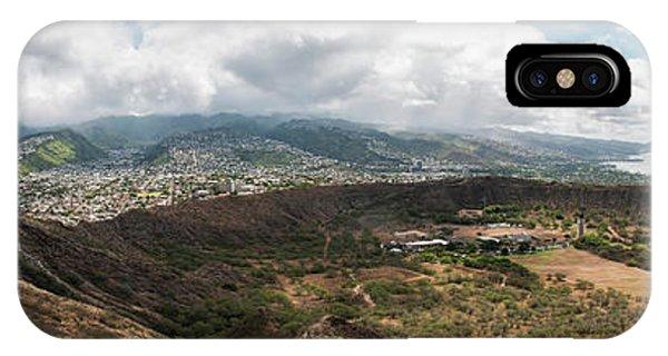 Diamond Head View Panoramic IPhone Case