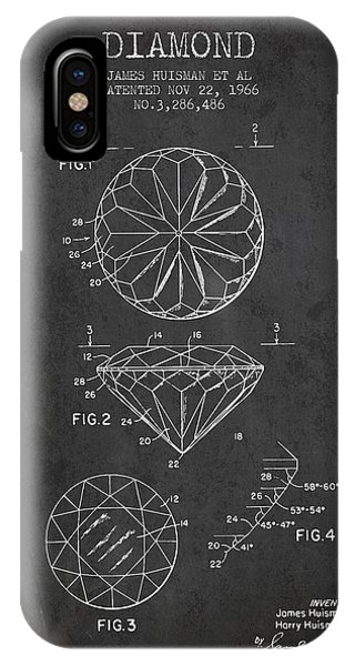 Diamond Patent From 1966- Charcoal IPhone Case