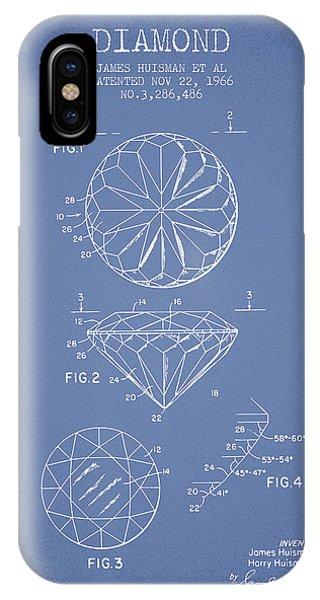 Diamond Patent From 1966- Light Blue IPhone Case