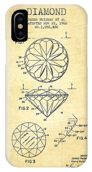 Diamond Patent From 1966- Vintage IPhone Case