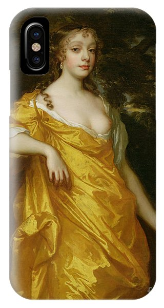 Golden iPhone Case - Diana Kirke-later Countess Of Oxford by Sir Peter Lely