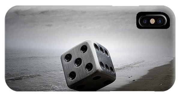 Metal iPhone Case - Dice by Zoltan Toth
