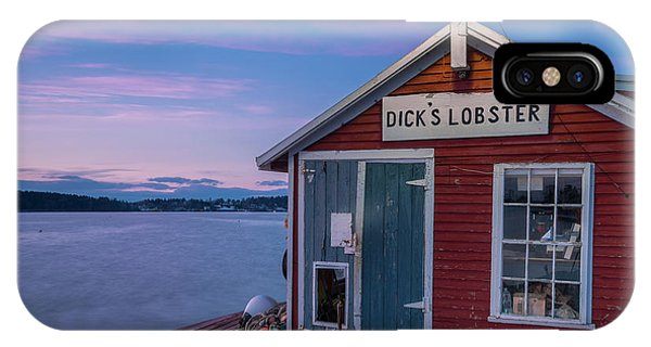 Dicks Lobsters - Crabs Shack In Maine IPhone Case