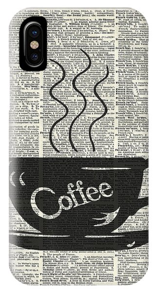 Kitchen iPhone Case - Dictionary Art Hot Coffee Cup by Anna W