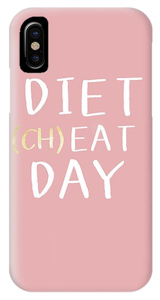 Pink iPhone Case - Diet Cheat Day Pink- Art By Linda Woods by Linda Woods