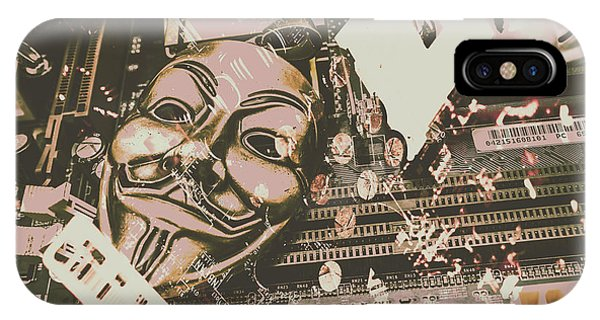 Protest iPhone Case - Digital Anonymous Collective by Jorgo Photography - Wall Art Gallery