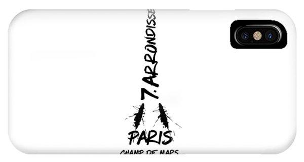 Paris iPhone Case - Digital-art Eiffel Tower by Melanie Viola