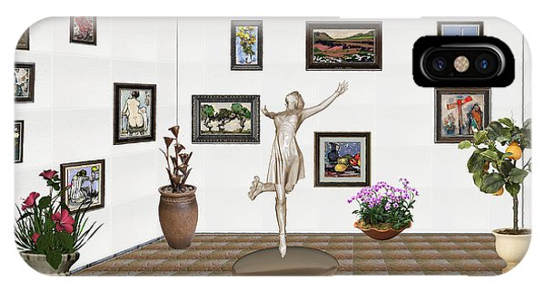 digital exhibition _ A sculpture of a dancing girl 12 IPhone Case