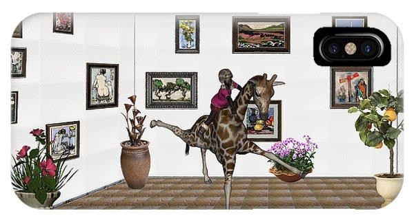 digital exhibition _ It climbed up giraffe IPhone Case