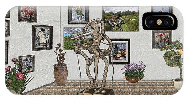 Digital Exhibition _ Modern  Statue 1   Of Dancing Girl IPhone Case