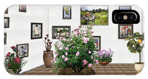 Digital Exhibition _ Roses Blossom 22 IPhone Case