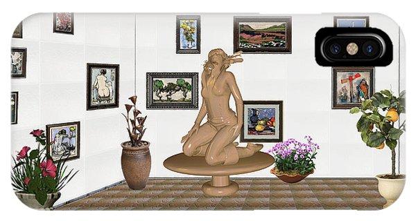 digital exhibition _ Sculpture 9 of girl  IPhone Case