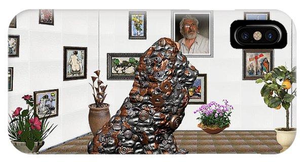 digital exhibition _Modern Statue of scrap IPhone Case