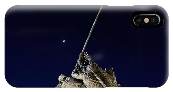 Digital Liquid - Iwo Jima Memorial At Dusk IPhone Case