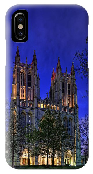 Digital Liquid - Washington National Cathedral After Sunset IPhone Case