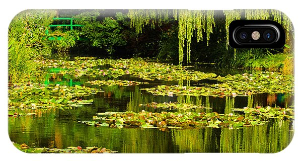 Digital Paining Of Monet's Water Garden  IPhone Case