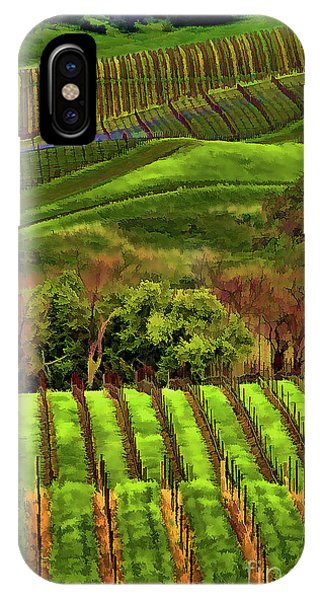 Enhanced Stunning Napa Valley Vineyards Vibrant  IPhone Case