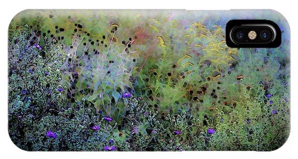 Digital Watercolor Field Of Wildflowers 4064 W_2 IPhone Case