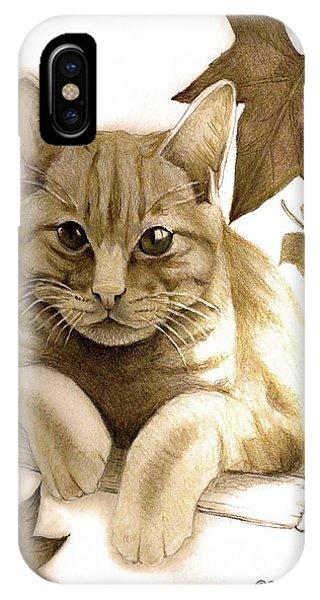 Digitally Enhanced Cat Image IPhone Case