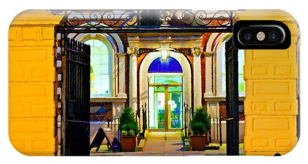 Digitally Painted Illustration Of Bluecoat Chambers In Liverpool With An Oil On Canvas Texture IPhone Case