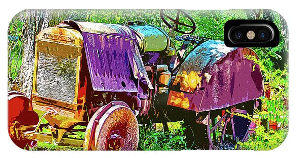 Dilapidated Tractor IPhone Case