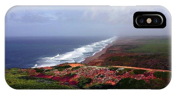 Flowering Beach Point Reyes Lighthouse Bodega Bay IPhone Case
