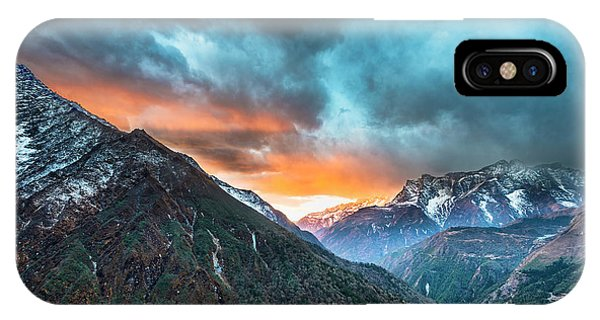 IPhone Case featuring the photograph Dingboche Sunrise by Dan McGeorge