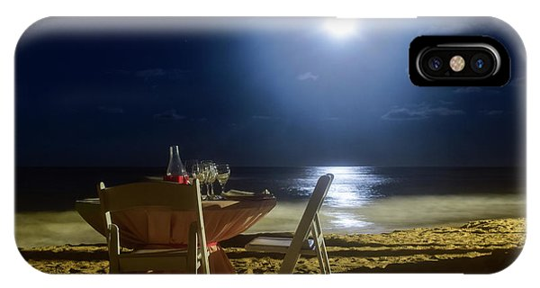 Dinner For Two In The Moonlight IPhone Case